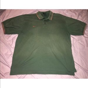 Nike Team Dri-Fit Textured Polo Vintage Faded Vtg